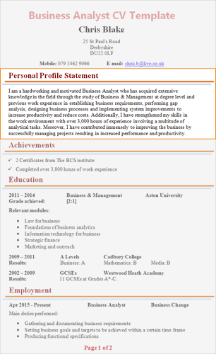 an application that introduce a professional individual