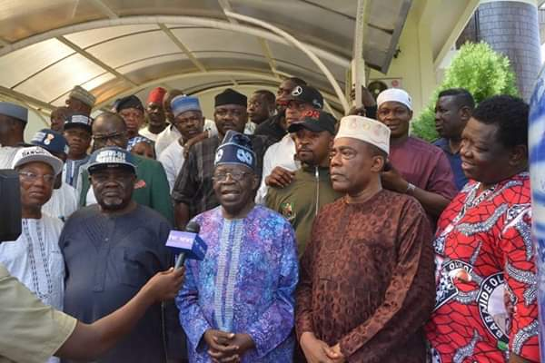 Image result for Asiwaju Tinubu meets NURTW leaders