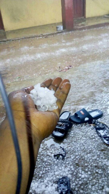 See Photos of the Ice-filled Rainfall in Jos Last Week