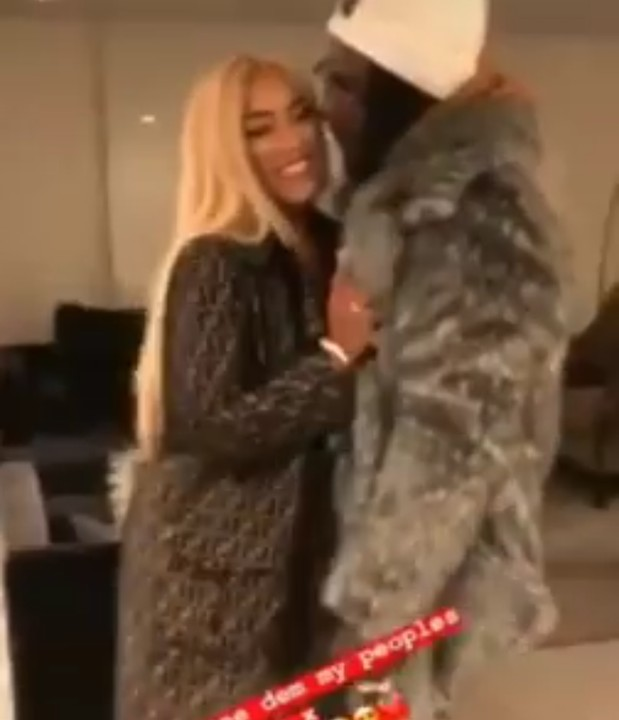 Burna Boy And Girlfriend Stefflondon All Lovedup, Shares First Kiss