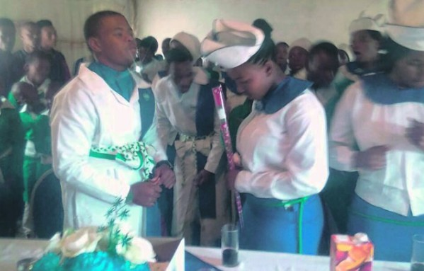 16-Year-Old Bishop's Son Gets Married To His 15-Year-Old Girlfriend In South Africa