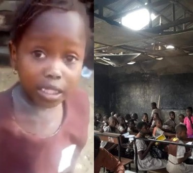 See The Deplorable State Of The School The Warri Girl Sent Home, Attends