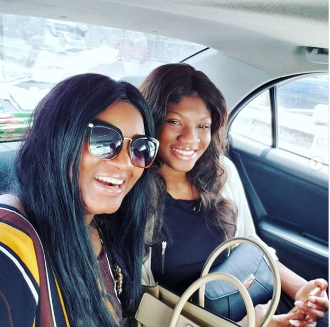 Princess Ekeinde Returns To Nigeria. Omotola Hasn't Seen Her Daughter For 2 Year