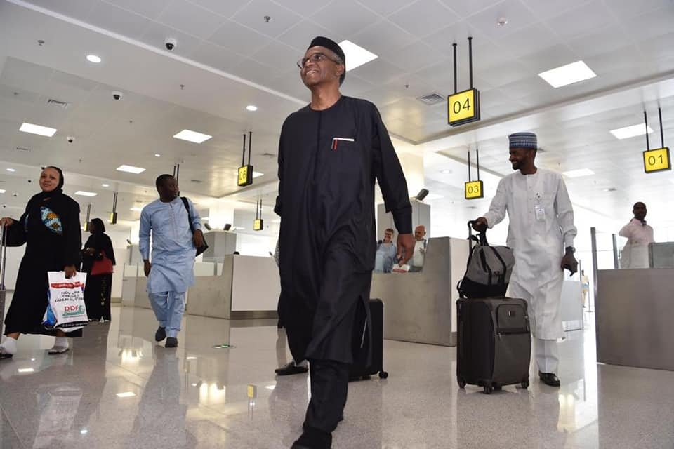 El-Rufai Returns To Nigeria After Widespread Rumours Of Being Dead (Pictures)