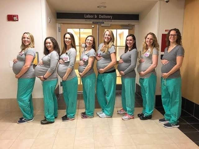 Nine Nurses In The Same Labour Unit All Pregnant At Same Time In Maine Hospital