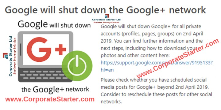 Google To Shut Down Google+ Personal Accounts April 2, 2019