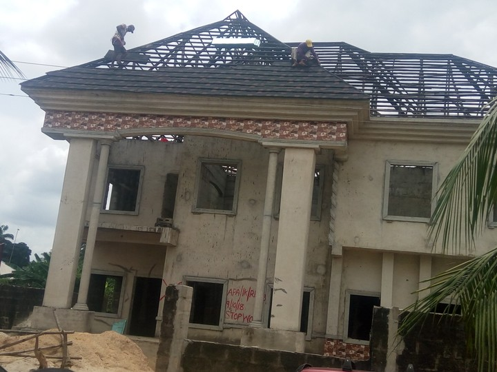 Roofing Project Ongoing At A Location In Akwa Ibom State