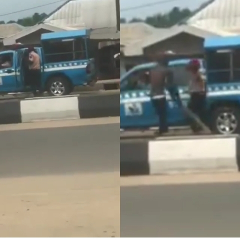FRSC Officials Run For Their Lives As Angry Man Attack Them