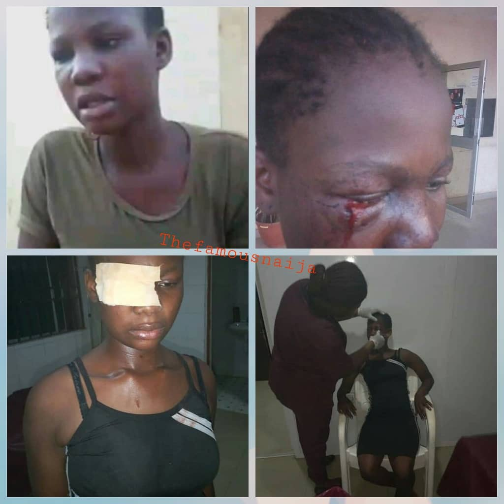TOUCHING VIDEO: Police Man R@ped A Small Girl, See What Resident Did To Him