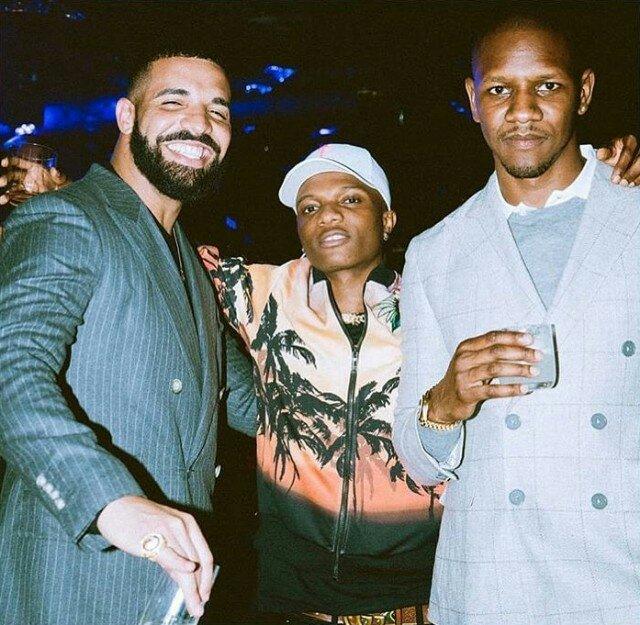 Image result for Drake performing at the 02 with Wizkid
