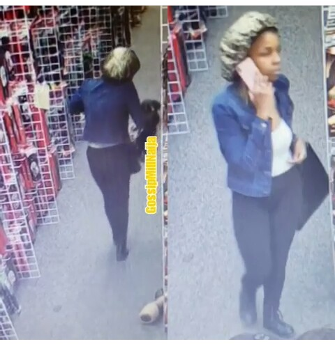 What Someone Girlfriend Caught Red-Handed On CCTV Stealing Is So Shocking--Video