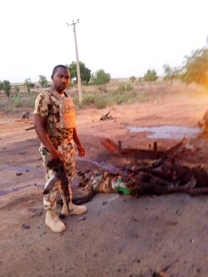 Soldiers Repel Boko Haram Attack On Damaturu, Kill Many Terrorists (Graphic Pix)