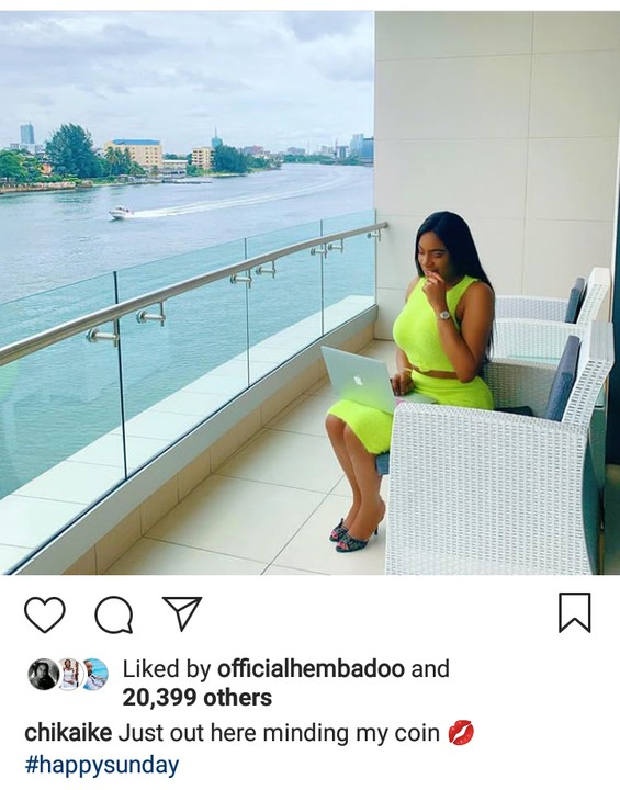 Chika Ike Minding Her Coin As She Wows In New Photos