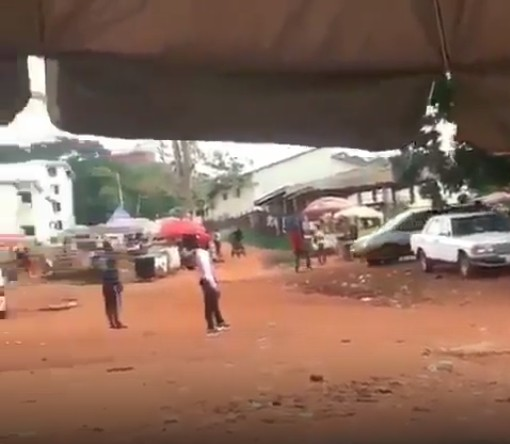 Video-policemen Shooting Recklessly At UNN Campus While
