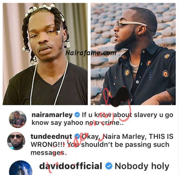 Fraud Nobody Holy Davido Replies Tunde Ednut Celebrities Nigeria Tunde ednut in reaction disclosed that many boyfriends are automatically useless because of what davido has done. nobody holy davido replies tunde ednut