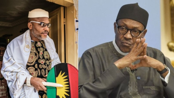 Image result for Nnamdi Kanu releases proofs alleging Buhari not Nigerian