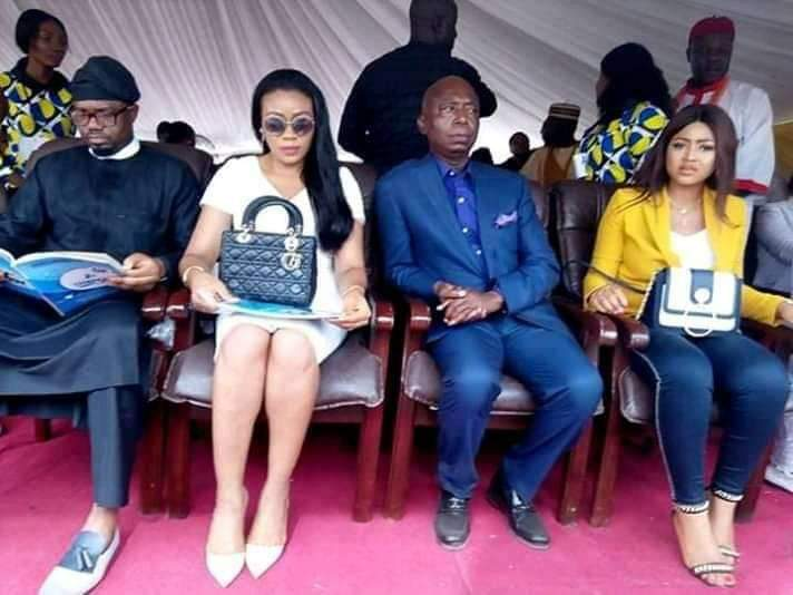 Regina Daniel And Her Billionaire Husband, Ned Nwoko Make Their First Public Appearance, Delta State
