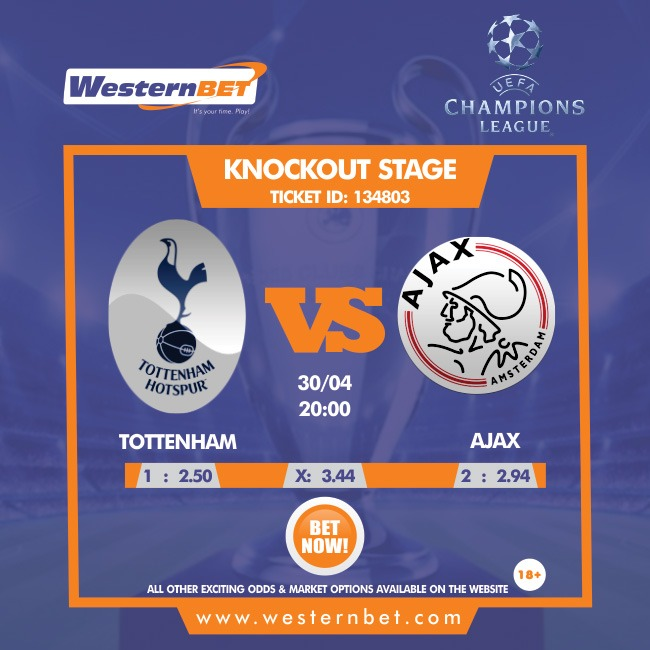 Tottenham Host Ajax For The First Leg Of Their Champions