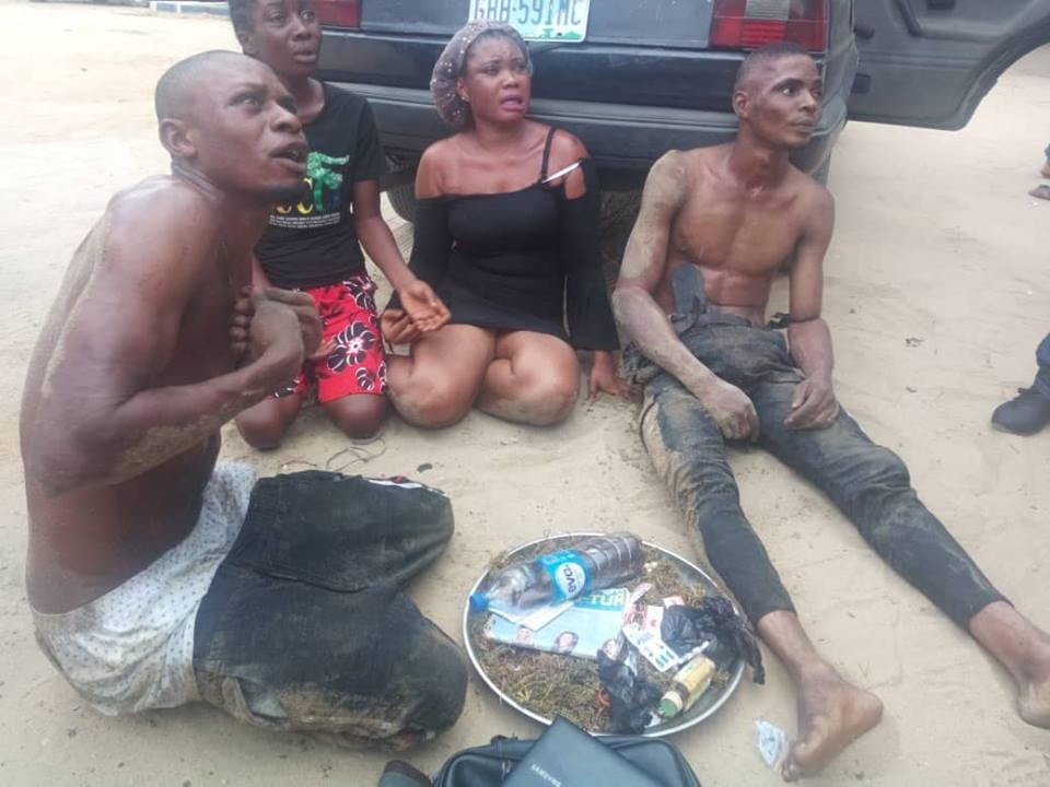 Slay Queens And Their Boyfriends Busted For Robbery In Rivers State. Photos