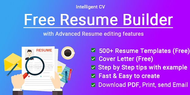 Above All The Instant Ad Display In Other Apps Is Not Frustrating Us Here I Can Rate This CV Builder App With 5 Stars For Its Simple Design Fast Working