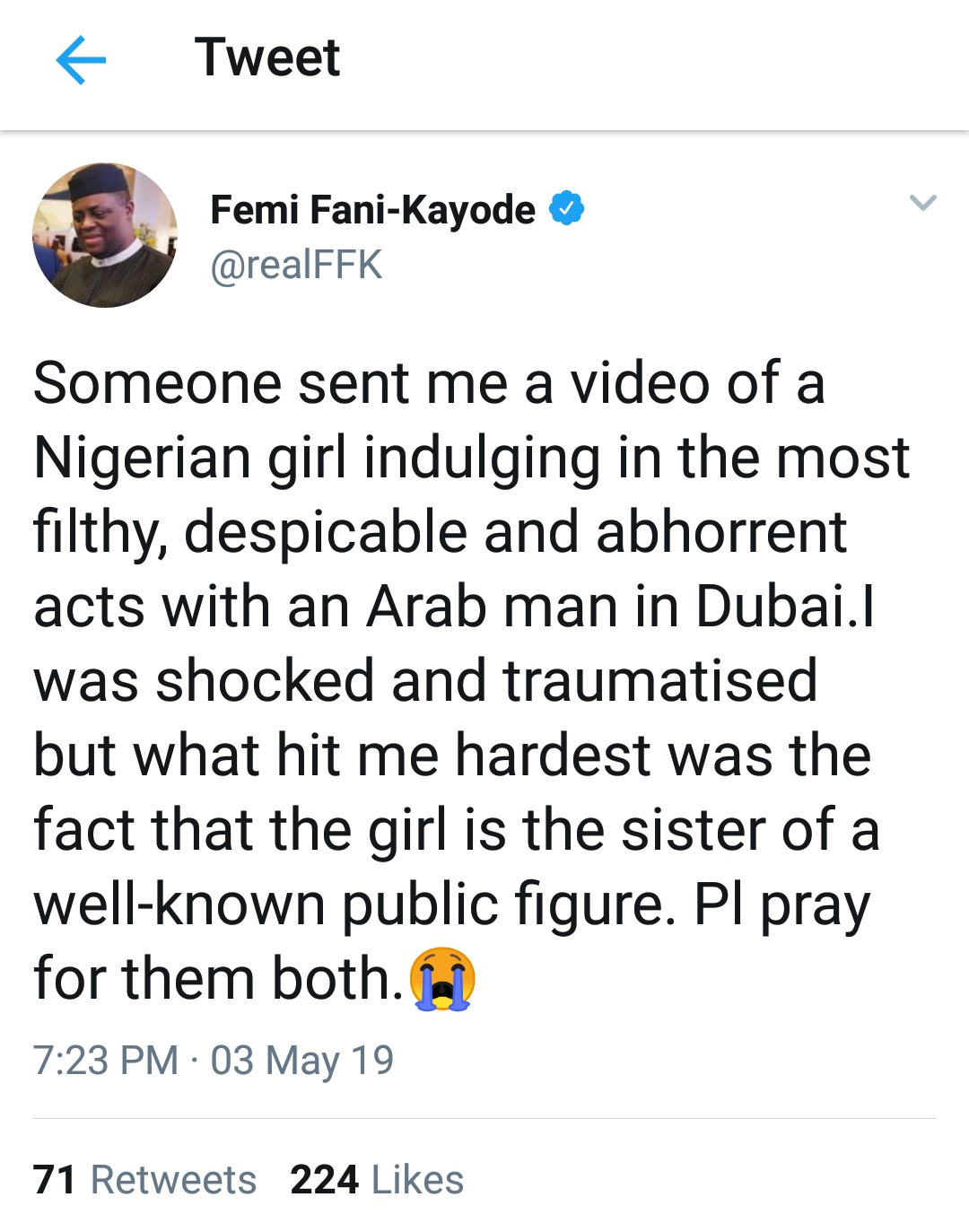 FFK: I Have Video Of Sister To A Public Figure Engaging In