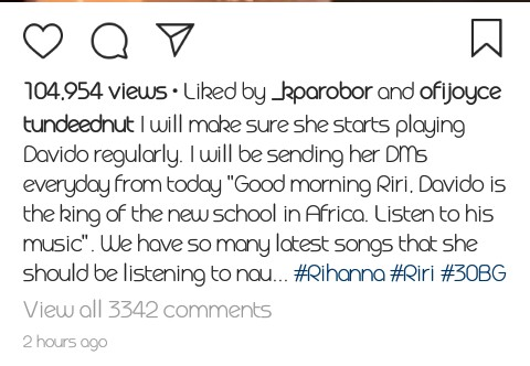 Tunde Ednut Suffers Pathological Jealousy As Rihanna Vibes To Wizkid S Song Celebrities Nigeria Tunde ednut is known for posting amazing engaging content from funny clips, information to music videos and entertaining stuff on his instagram page where he commands over 1.7m followers. tunde ednut suffers pathological