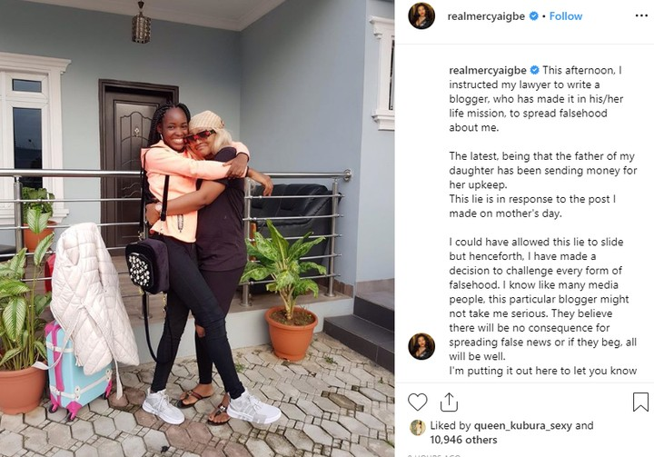 Mercy Aigbe Threatens To Sue Blogger Over Her Daughter's Upkeep