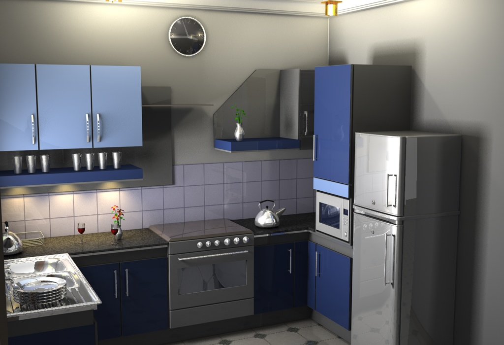 Office kitchen cabinet in 3d finished wrk presentatn for Kitchen designs in nigeria