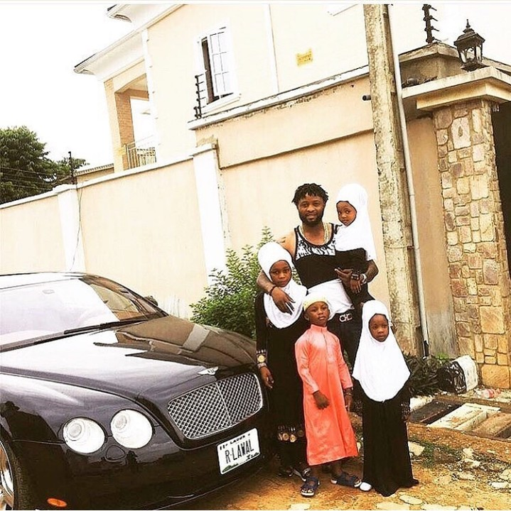 Footballer, Raheem Lawal Poses With His 4 Kids