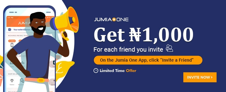 Download And Get Up To #1000 Naira Instantly On Jumia One