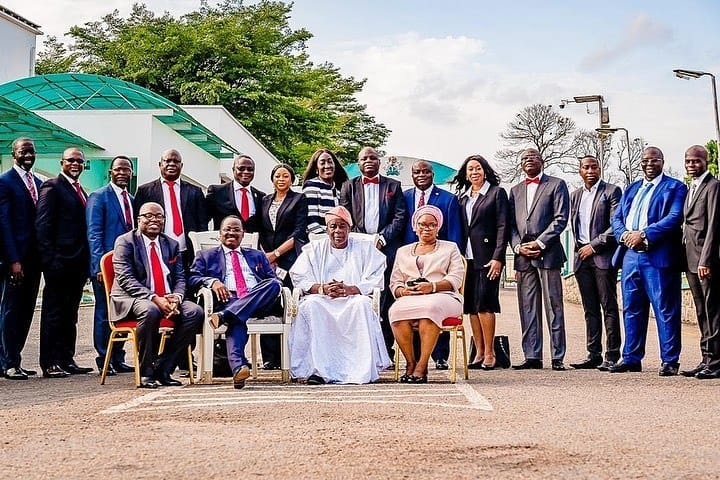 Governor Ajimobi & His Deputy Pose With Oyo State Executive Council
