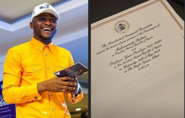 Image result for MMMG Boss, Ubi Franklin Shows Off His Presidential Inauguration Invite