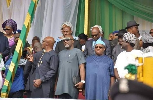 Check Out Dino Melaye Outfit At Governor Wike Inauguration [Photos]