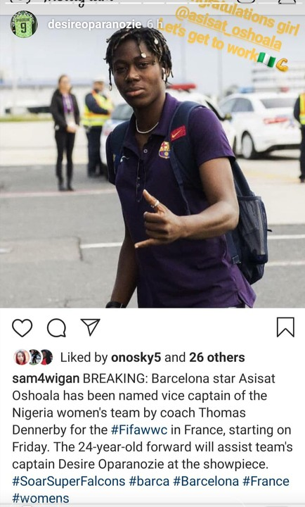 Oshoala Appointed Vice-Captain Of The Falcons As They Take Their Official Photo