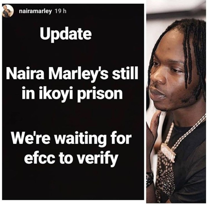 Naira Marley Still In Ikoyi Prison, We Are Waiting For EFCC To Verify - Manageme 1