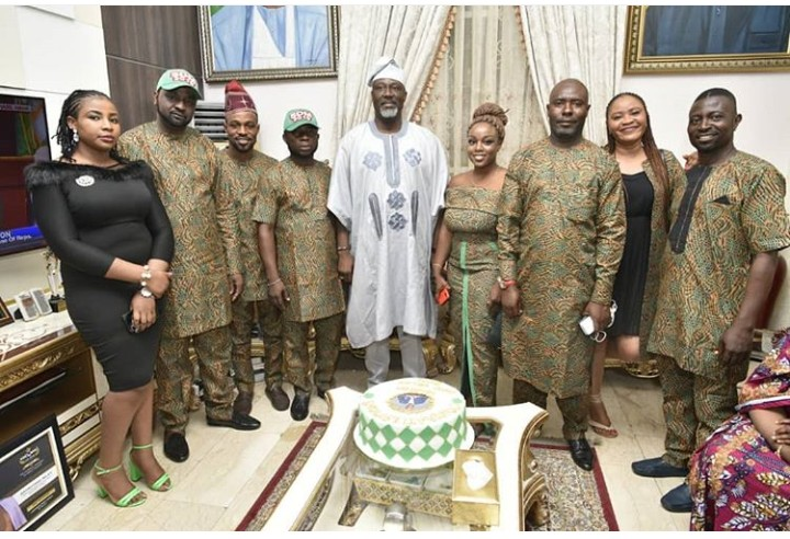 Dino Melaye Shares Cute Photo With His Staffs 1
