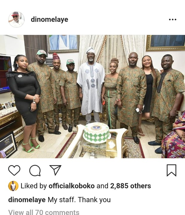 Dino Melaye Shares Cute Photo With His Staffs 2