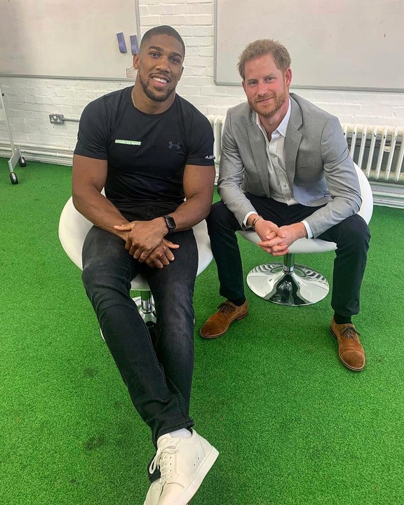 Anthony Joshua spotted with Duke of Sussex, Prince Harry 1