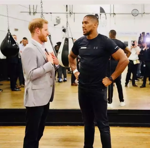 Anthony Joshua spotted with Duke of Sussex, Prince Harry 2
