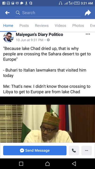 People Are Crossing The Desert To Europe Because Lake Chad Dried Up- Buhari 1