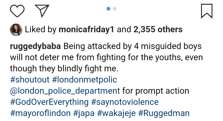 Rugged Man Attacked In London Shortly After Naira Marley Was Released From Prison 2