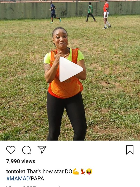 Tonto Dikeh Plays In Novelty Match In Commemoration Of Fathers Day