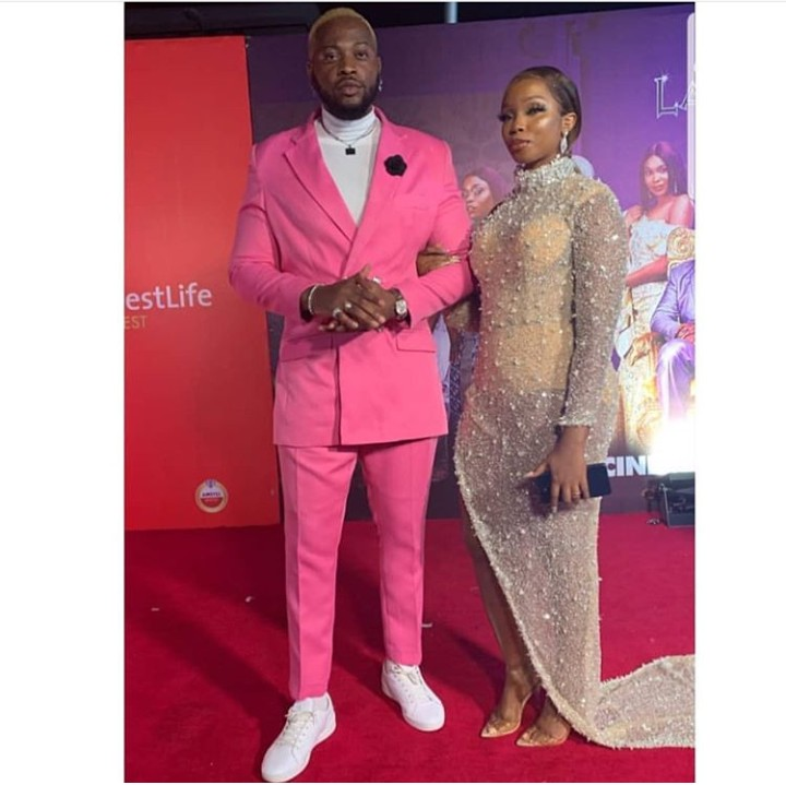Bbnaija Lover, Teddy-A And Bambam At The Premiere Of #TheBlingLagosians 1