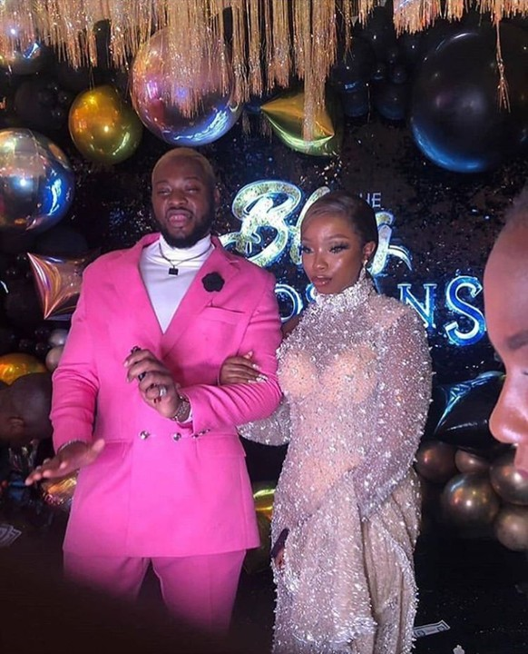 Bbnaija Lover, Teddy-A And Bambam At The Premiere Of #TheBlingLagosians 2
