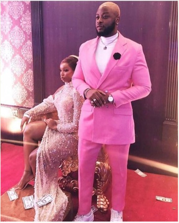 Bbnaija Lover, Teddy-A And Bambam At The Premiere Of #TheBlingLagosians 3