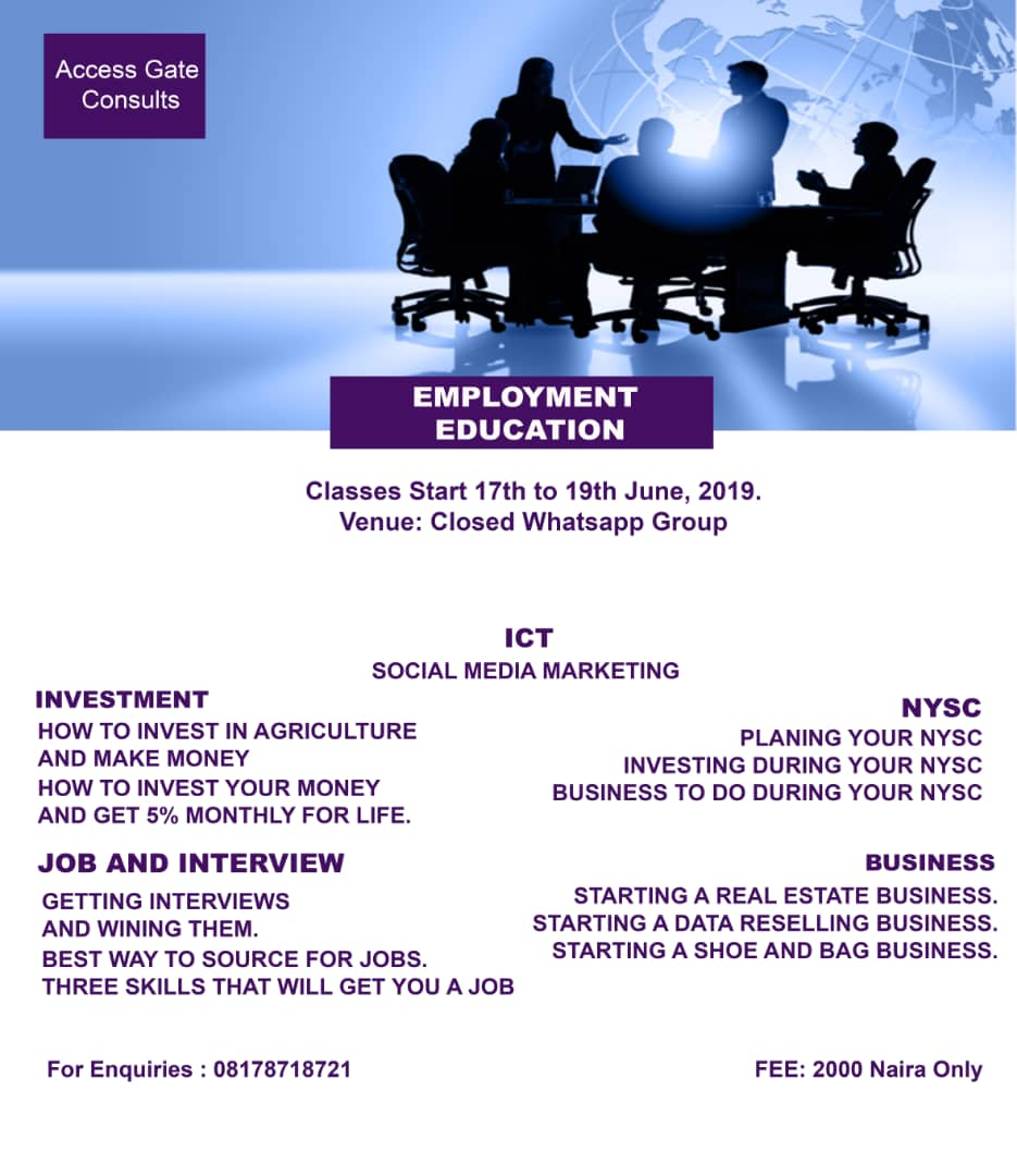 Few Hours To Go, Don't Miss Out Of This  - Jobs/Vacancies