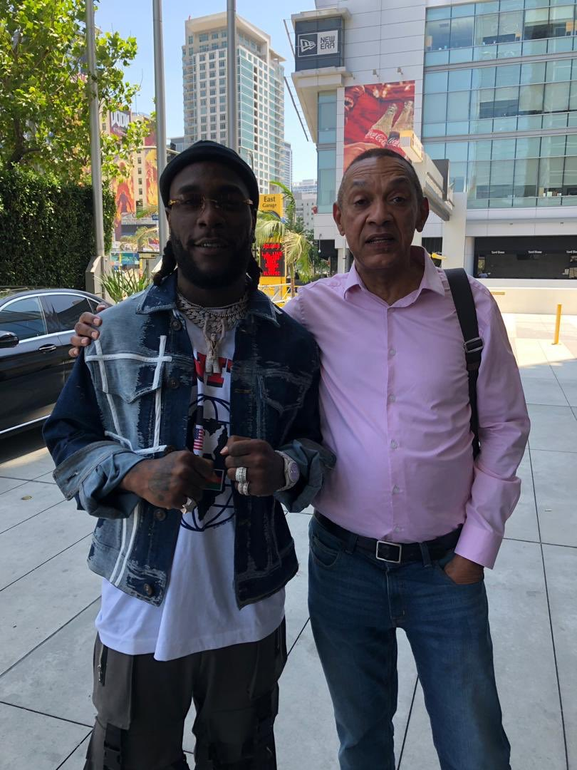 Sen. Ben Bruce spotted with Burna Boy and his mum at the #BETAwards2019 in US 2