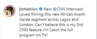 Temi Otedola Gets A TV Interview With CNN For The Third Time 2