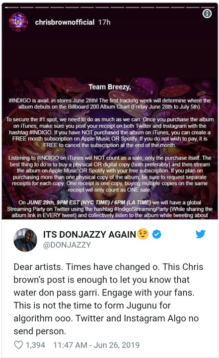 'Dear Artists, Times Have Changed, You Must Engage With Your Fans' - Don Jazzy 1
