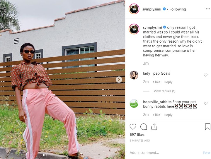 Simi Reveals The Only Reason She Got Married 1